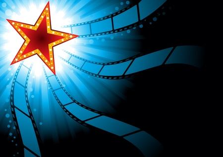 movie sign: Cine de fondo Vectores