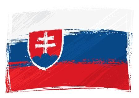 slovakia: Grunge Slovacchia flag Vettoriali