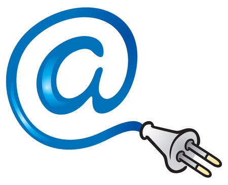 internet logo: Electric mail Illustration