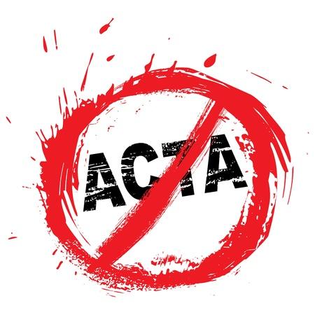 counterfeiting: No ACTA symbol Illustration
