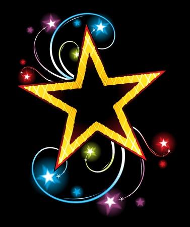 Gold star Stock Vector - 12199156