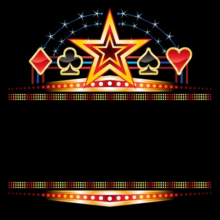 Casino neon Vector