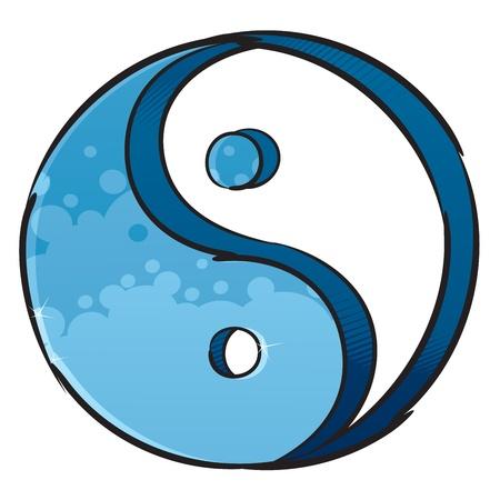 ying yang: Artistic yin-yang symbol