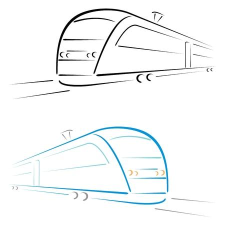 railway transports: Train symbol Illustration