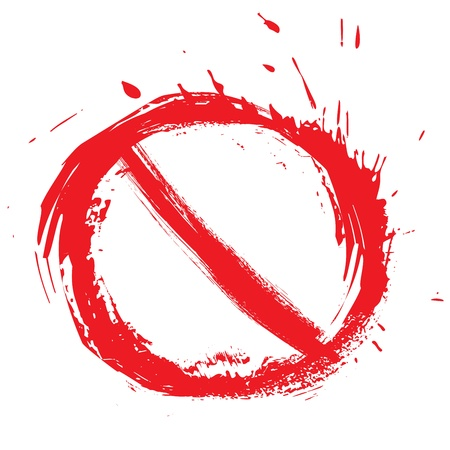 no entry sign: Restricted symbol Illustration