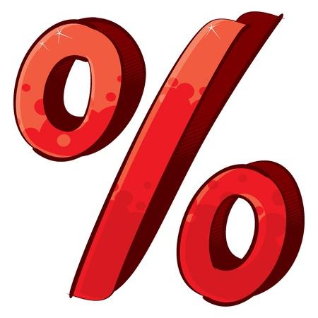 prozentzeichen: K�nstlerische Prozentzeichen Illustration