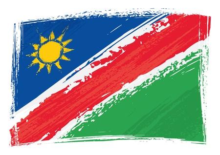 namibia: Grunge Namibia flag Illustration