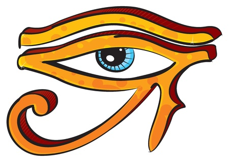eye tattoo: Ojo de Horus