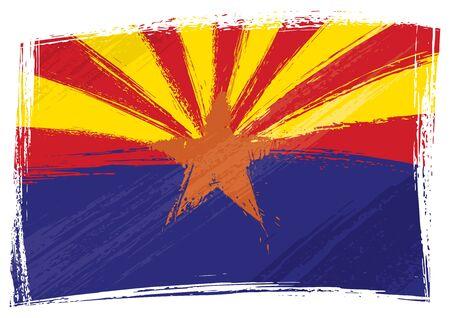 arizona: Grunge Arizona flag Illustration