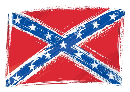 civil war: Grunge Confederate flag