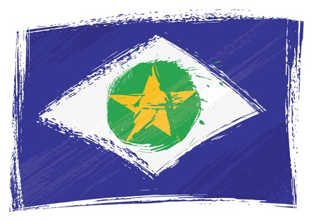 Grunge Mato Grosso flag Vector