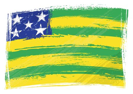 Grunge Goias flag Vector
