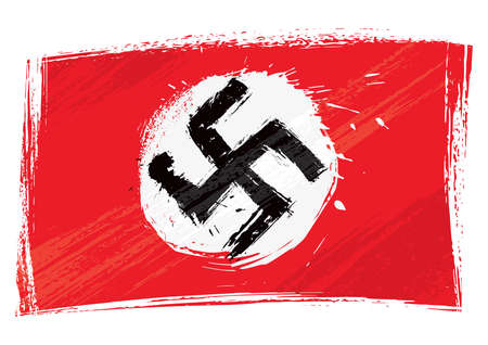 swastika: Grunge Nazi flag Editorial