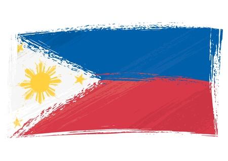 Grunge Vlag van Filippijnen Vector Illustratie