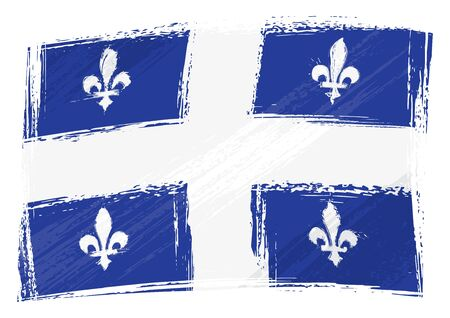 Grunge Quebec flag