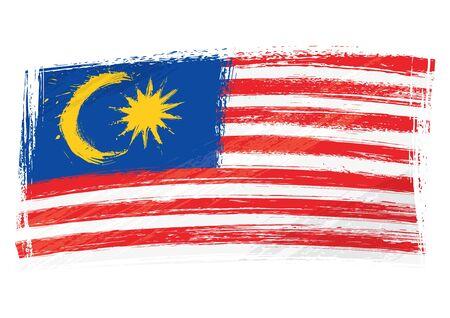 Grunge Malaysia flag Vetores