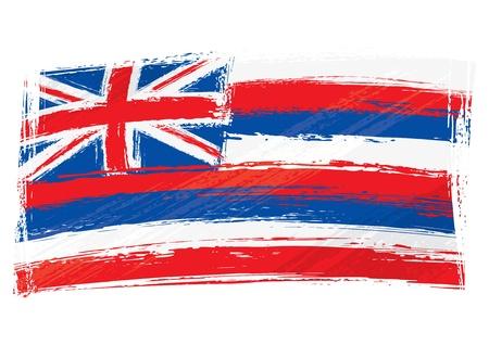 hawaii flag: Grunge Hawaii flag