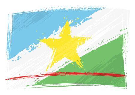 Grunge Roraima flag Vector