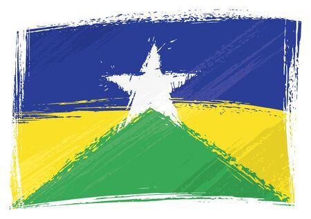 Grunge Rondonia flag Vector