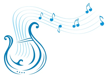 Lyre music Vector