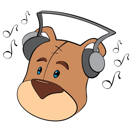Teddy is listening Stock Vector - 14407551