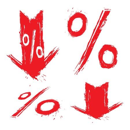 bargain price: Discount symbols Illustration
