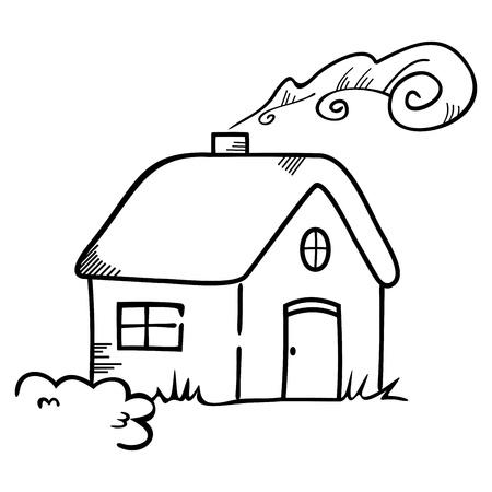 silhouette maison: Maison symbole