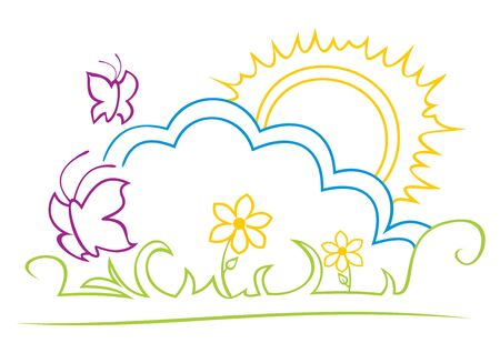 Sunny illustration Vector