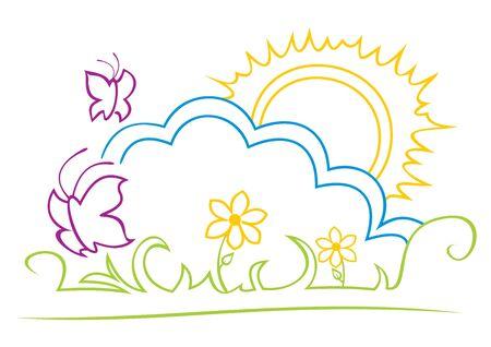 Sunny illustration Stock Vector - 14601447