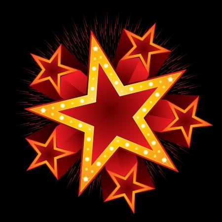 explode stars: Celebration
