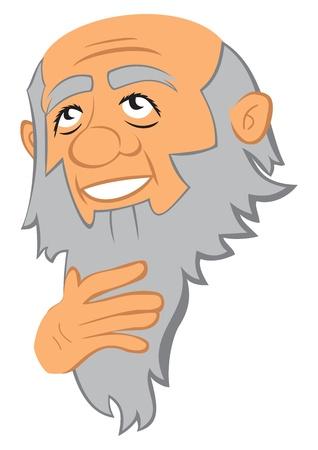 hombre con barba: Filósofo Vectores