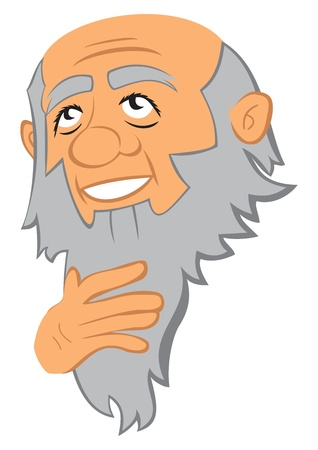 man with beard: Philosopher
