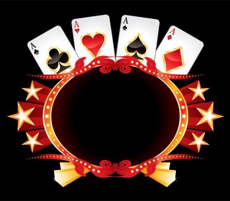 cartas de poker: Casino de neón