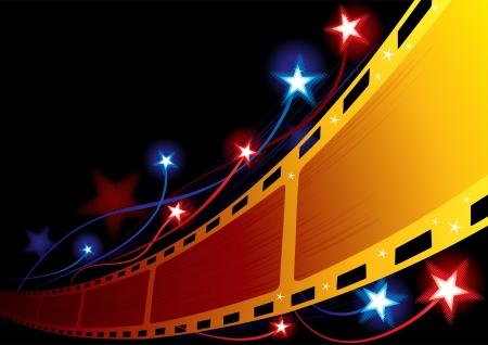 fireworks show: Cinema background