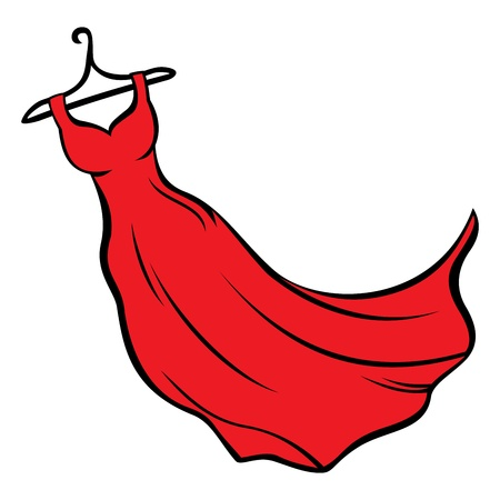 clothes cartoon: Red dress