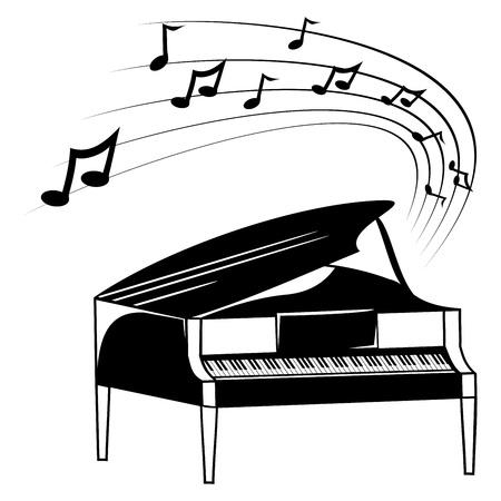 Piano en muziek noten