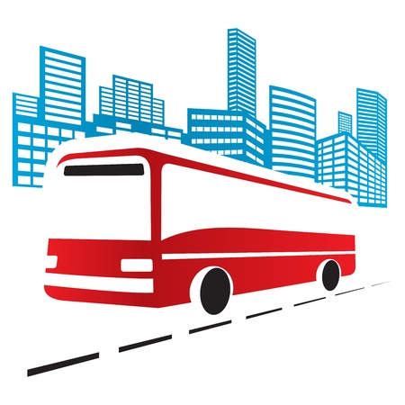public transportation: City bus Illustration