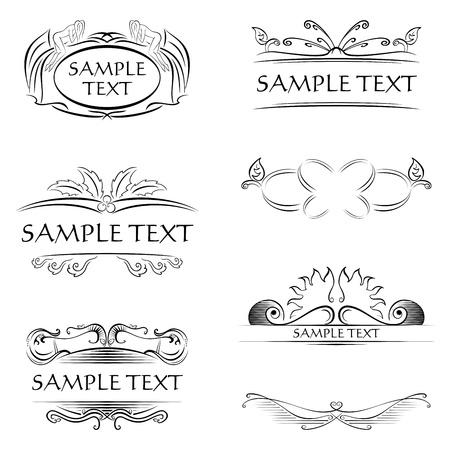 calligraphy frame: Decoraciones y marcos Vectores