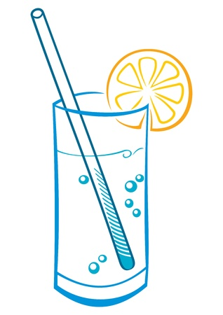 drinking straw: Fresh drink