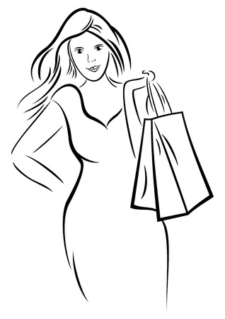 purchasing: Woman shopping