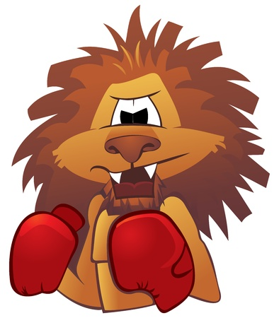 Lion boxer Vector