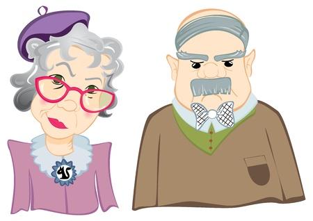 abuela: Abuelos Vectores