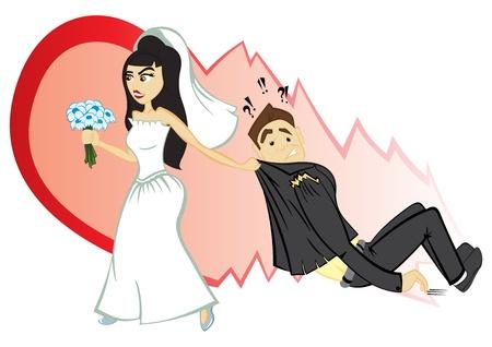 unhappy man: Wedding ceremony