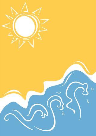 heat waves: Summer background