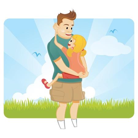 Vaders dag Vector Illustratie