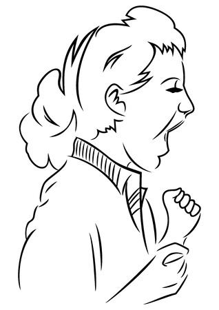 human voice: Woman get loud