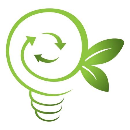 ahorro energia: Energía verde Vectores