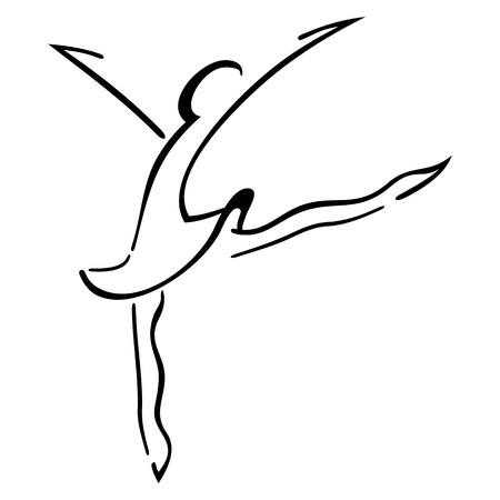Symbol of woman dancing modern steps