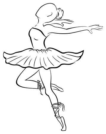 ballerina silhouette: Dancing woman Illustration