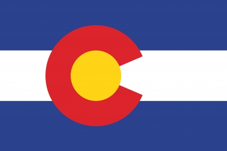 colorado: Vector State of Colorado flag Illustration